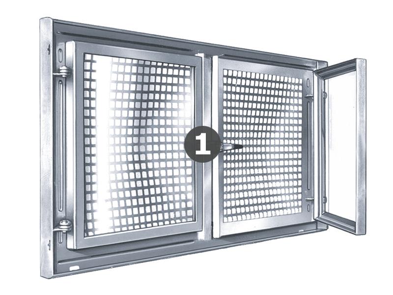 Bekannt Griffreiberset Stahl Kellerfenster zweiflügelig - MEA Bausysteme JY02