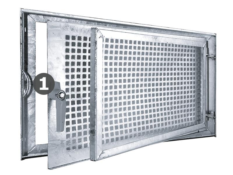 Relativ Griffreiberset Stahl Kellerfenster - MEA Bausysteme Webshop SF96